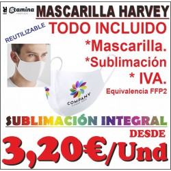Mascarilla Sublimada Harvey