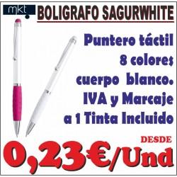Bolígrafo puntero Sagurwhite