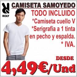 Camiseta cuello V SAMOYEDO