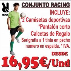 Equipación deportiva RACING